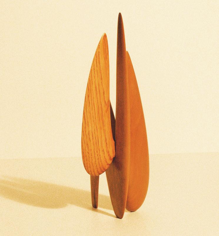 Stabile wood sculpture