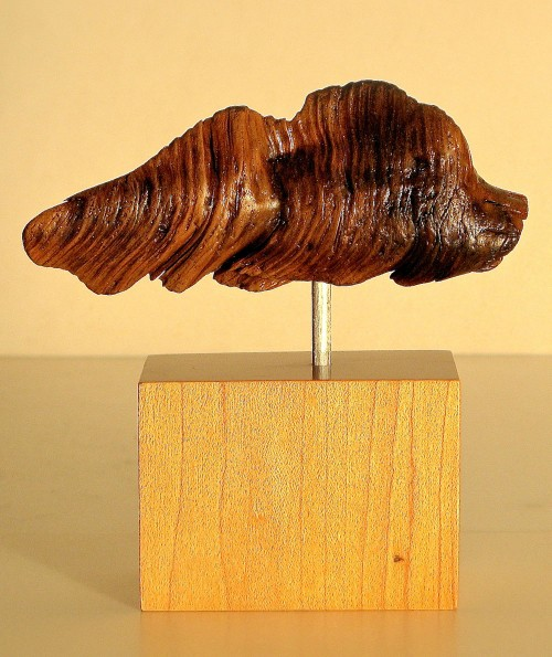 Root Fish wood carving sculpture
