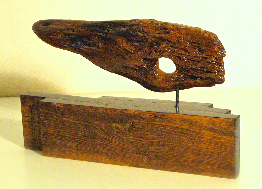 Windblown woodcarving sculpture