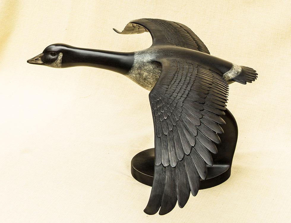 Canada Goose bronze sculpture