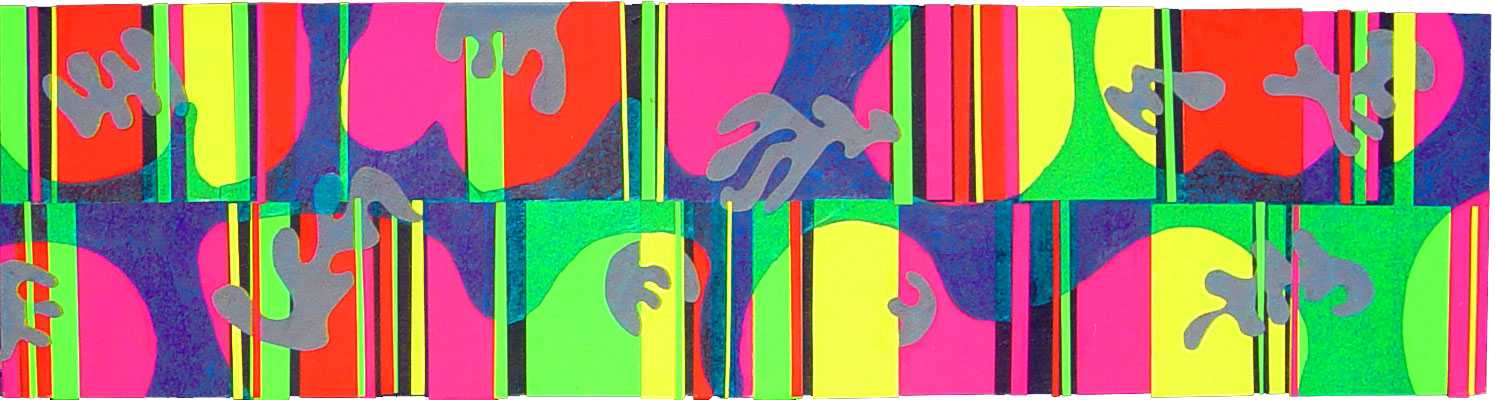 musaquaria - modernist abstract mixed media collage