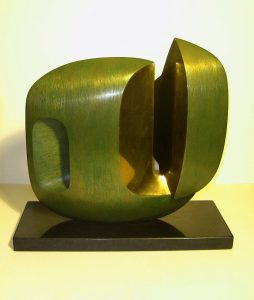 Oracle VI - abstract modernist bronze sculpture exhibition