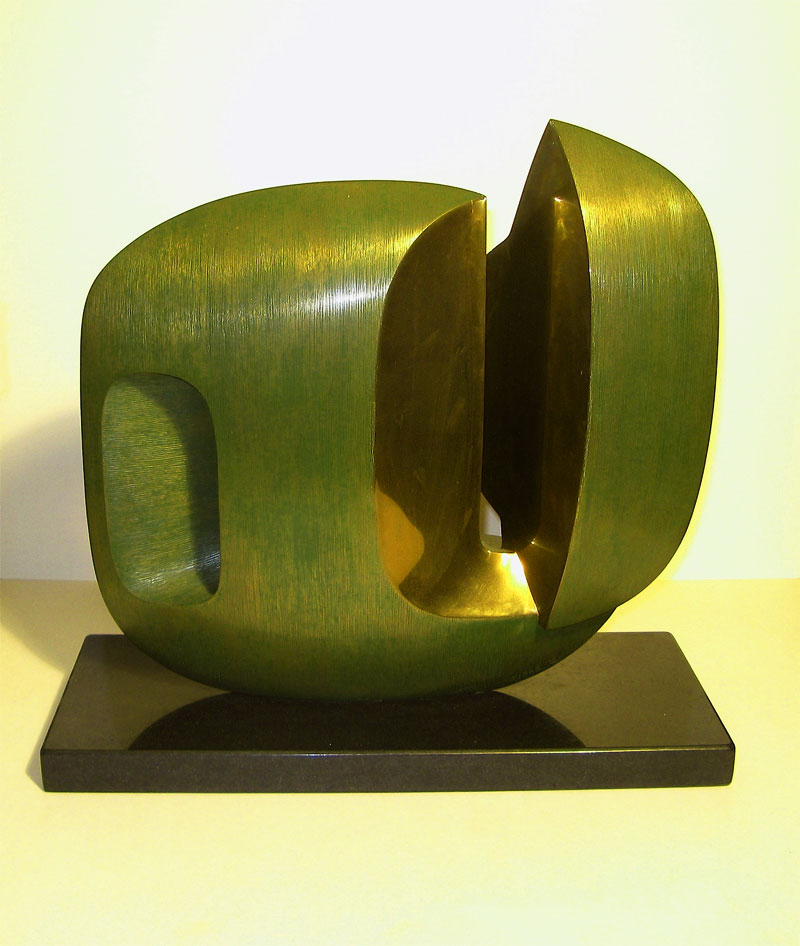 Oracle VI - abstract modernist bronze sculpture