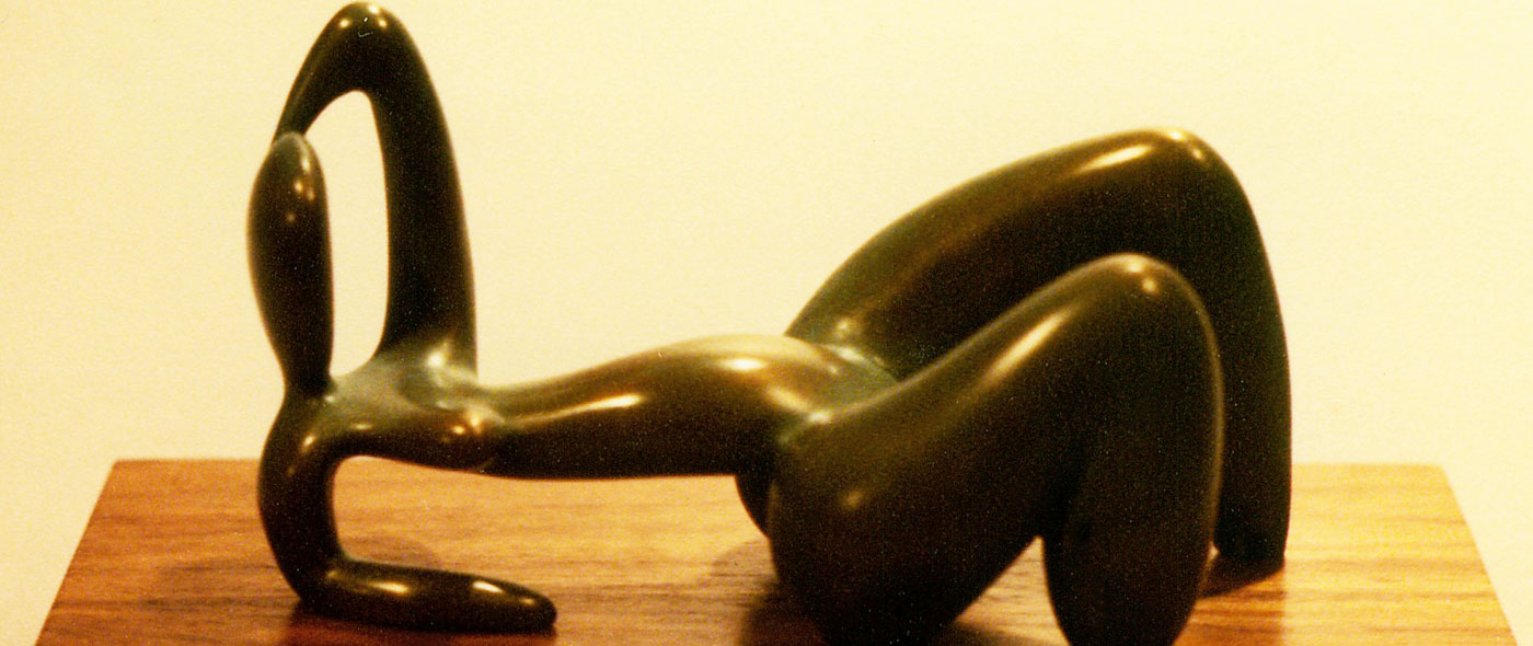 reclining figure 2 - modernist abstract bronze figurative sculpture