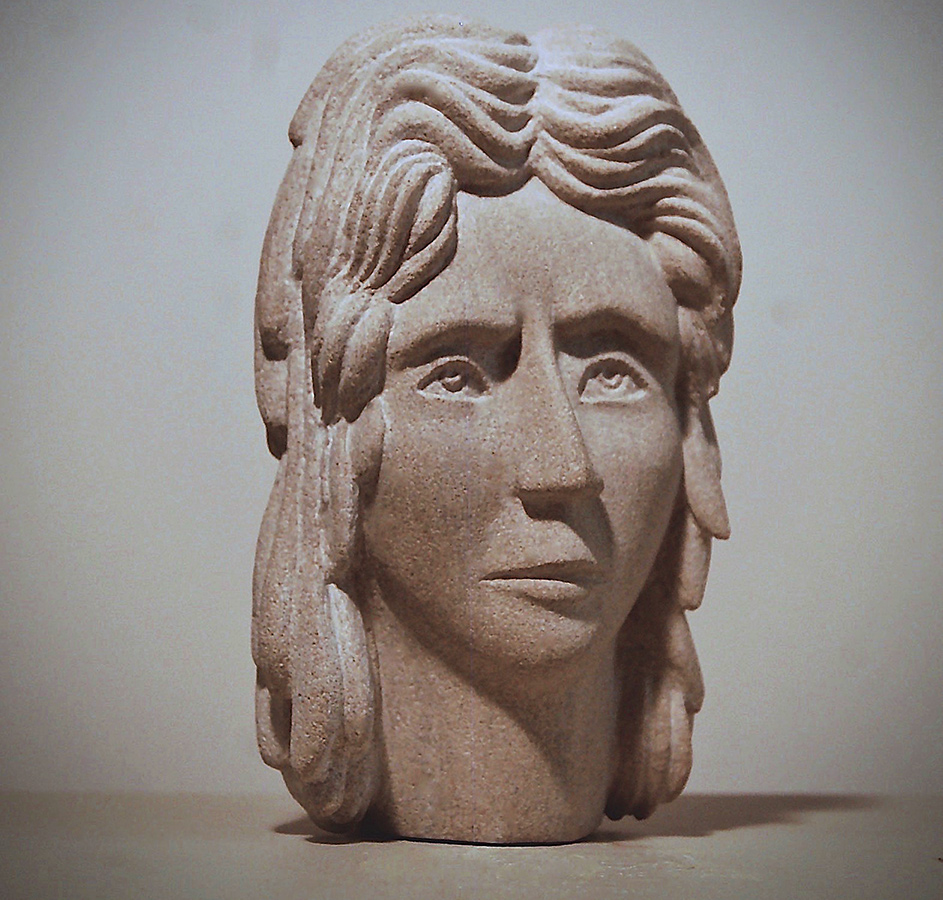 moment of concern limestone carving sculpture don perdue 2019