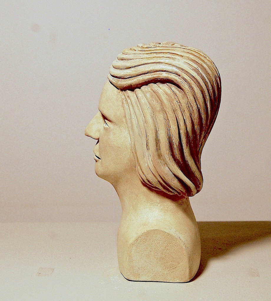youths head polychromed plaster-sculpture by don perdue 2019