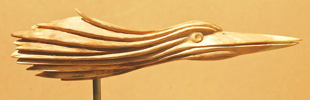 Heronesque Study 2 - wood carving - Don Perdue