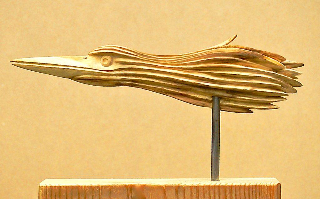 Heronesque Study 2 wood carving sculpture